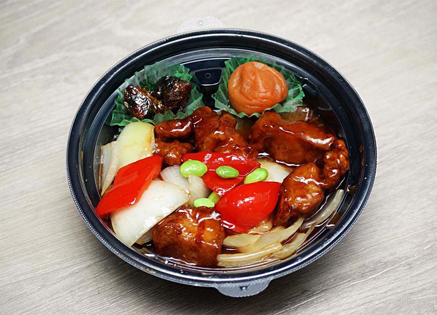<p><strong>黒酢酢豚定食</strong><br /> ユーチューバーおすすめ!幸せコロコロお肉ゴロゴロ♪</p>